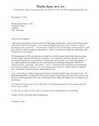 Cover Letter Examples Nursing Jobs Cover Letter Example Nursing Newskey Info