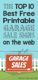 Free Printables Garage Sale Signs Price Tags Craigslist