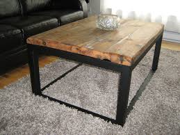 custom wood and iron coffee table by baywood custom furniture