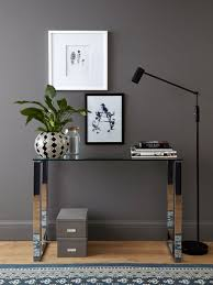 tiva glass and chrome console table from danetti