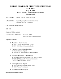 Board Meeting Agenda Samples Best Photos Of Example Of Board Meeting Agenda Sample Board Of 8