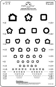 20 20 Vision Chart Patti Pics 13 Line Pediatric Vision Chart