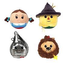 hallmark gifts fluffball wizard of oz set of 4 stuffed plush hanging toys dorothy scarecrow cowardly lion tin man walmart
