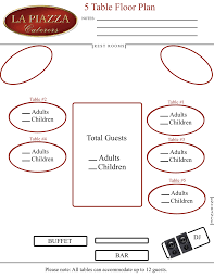 Seating Charts La Piazza Caterers Merrick New York