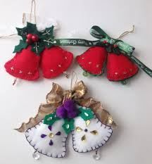 Felt Design Ideas Christmas Bell Ornaments Made From Felt Felt Ornaments