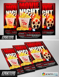 Free Movie Night Flyer Templates Movie Night Flyer Template 1811306 Free Download Vector