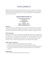 experience as a cashier resume retail cashier resume samples proposal sample