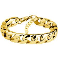 miami cuban chain bracelet men snless steel gold curb chain link bracelet biker hip hop jewelry