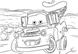 Small Picture Tow Mater from Cars 3 coloring page Free Printable Coloring Pages