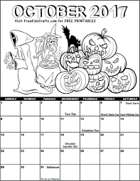 craftsys october coloring calendar page. 2017 advent coloring ...