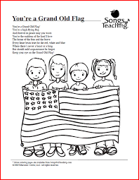 Small Picture Youre a Grand Old Flag Free Printable Coloring Page from Songs