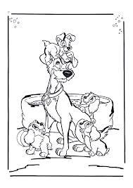 Lady En De Vagebond Papa Met De Pups Lady En De Vagebond