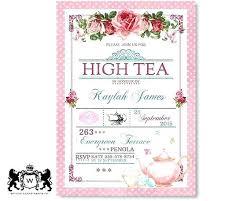 Tea Invitations Printable Mad Hatter Tea Party Invitation Template Free
