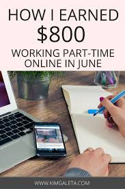 online income report and goals kim galeta learn how to earn money online working part time as a blogger and lance writer