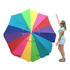 Image Walmart Easygo 7 Heavyduty Rainbow Beach Umbrella With Sand Anchor Carry Bag Overstock Shop Easygo 7 Heavyduty Rainbow Beach Umbrella With Sand Anchor