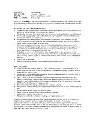 Security Guard Resume No Experience Free Resume Templates 15 Best