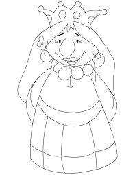 Queen Coloring Page A Cartoon Queen Coloring Pages Cupcake Queen