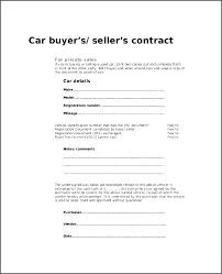 Vehicle Purchase Agreement Template Private Party Car Sale Contract ...