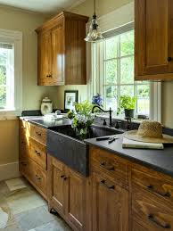 rustic kitchen cabinets. Simple Country Cottage Wooden Cabinets Rustic Kitchen