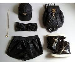 Shorts: black, leather, wet look, bag, chanel, quilted, backpack ... & shorts black leather wet look bag chanel quilted backpack shoes quilted bag  leather shorts Adamdwight.com