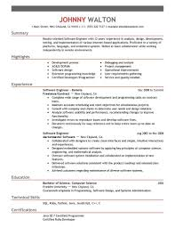 Software Engineer Resume Examples Examples Of Resumes