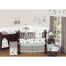 sweet jojo designs outdoor adventure collection cotton 9 piece crib bedding set
