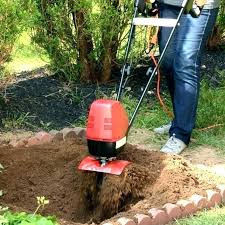 mantis garden tiller electric tillers for digs deep and fast used rototillers parts mantis garden tiller