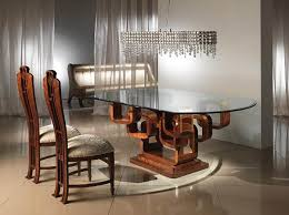 posts to nice modern glass wood dining table