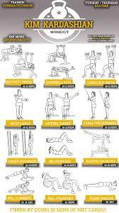 Kim Kardashian Arms Abs Routine Exercise Gym Workouts