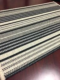 outdoor carpet runner black beige striped custom no pile and resistant home depot indoor rolls for