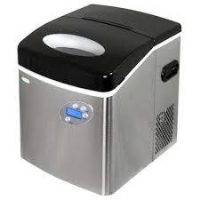 portable ice maker in metallics