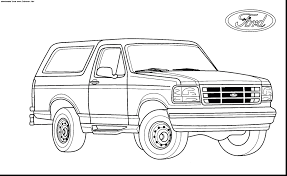 challenge broncos coloring pages amazing ford bronco truck with raptor page