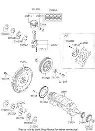 crankshaft piston for 2011 hyundai sonata hyundai parts deal 2011 hyundai sonata crankshaft piston diagram 20231a11 2