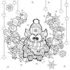 Small Picture Zentangle christmas owl by irina yazeva Christmas Coloring