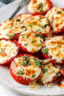 broiled tomatoes with cheese