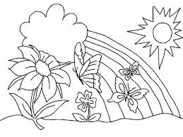 Free Flower Coloring Pages Spring Sheets For Preschoolers Adults