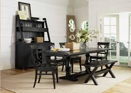 country style kitchen table sets with bench black rectangle wooden