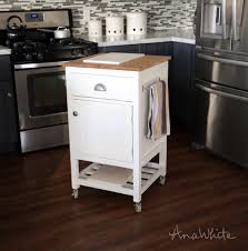 ana white how to small kitchen island prep cart with compost diy projects
