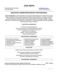 Human Resources Generalist Resume Template Of Business Resume