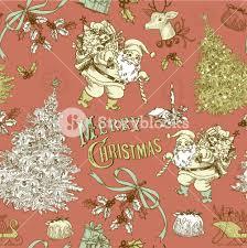 vintage christmas pattern. Exellent Christmas Vintage Christmas Seamless Pattern Intended E