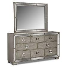 Mirror Furniture Angelina Dresser And Mirror Metallic Value City Furniture