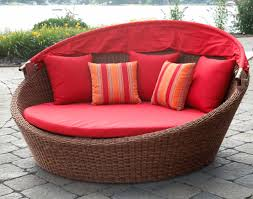 outdoor upholstered furniture. Awesome Sunbrella Cushions For Your Outdoor Furniture Decor: Red Fabric Upholstered W