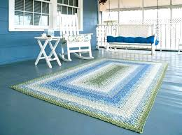 U Outdoor Area Rugs 8x10 Teal Rug  Indoor