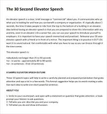 Elevator Speech Outline - East.keywesthideaways.co
