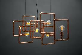 zoom copper pipe light fixture lamp pipe chandelier industrial
