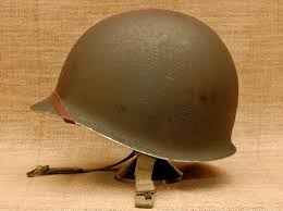 helmet 2 post wwii korean war mccord radiator shell rear seam swivel bale sewn od7 chinstraps with late wwii production firestone liner
