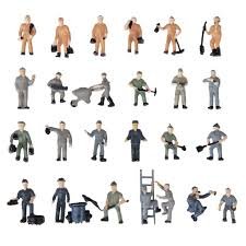 <b>New Arrival 25pcs</b> 1:87 Figurines Painted Figures Miniatures of ...