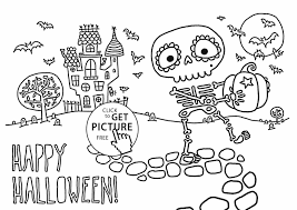 Small Picture Skeleton Coloring Page Clipart Panda Free Images And Black Cat