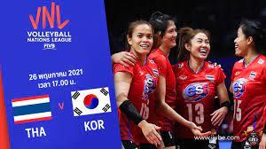 ถ่ายทอดสด วอลเลย์บอลหญิง เนชันส์ลีก 2021 ไทย vs เกาหลีใต้ HD พากย์ไทย
