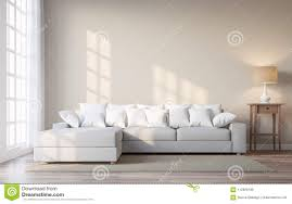 What Colour Sofa Goes With Light Wood Flooring Vintage Style Living Room With Beige Color Wall 3d Render